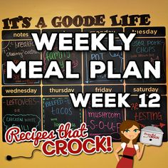 This week's Weekly Meal Plan includesCreamy Crock Pot Oatmeal, Fresh Berry Syrup, One Pot Crock Pot Chicken Dinner, Crock Pot Fiesta Pork Chops, Crock Pot Sweet Potatoes, Crock Pot White Chicken Chili, Crock Pot Beefed Up Tacos, Easy Homemade Guacamole and Crock Pot Steak Mushroom Soup. ` Note: We use referral links to products we...Read More »