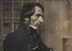 The self-portrait of early photographer Antoine François Jean Claudet, 1798-1867.