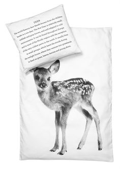 nord design - nature inspired awesomeness! Baby deer crib sheet. (Follow the link....there's a hedgehog, too! squee!)