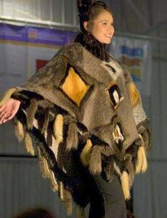 Inuit made sealskin cape worn by Sandi Vincent, PHOTO by Ed Maruyama