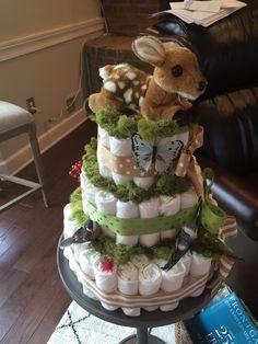 Fawn Diaper Cake Woodland theme