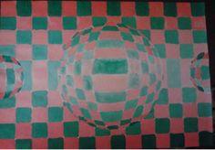 Za ovaj rad sam koristio komplementne boje  crvenu (toplu) i zelenu (hladnu)..Naglasen je 3D efekat...koristeci valere (postepeno smanjivanje svetlosti).