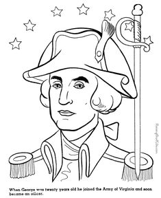 General George Washington Coloring Page 018