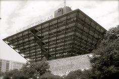 Slovenský rozhlas (Slovak Radio, Bratislava, Slovakia.) Architects: Štefan Svetko, Štefan Ďurkovič, Barnabáš Kissling. Building (finally) completed 1983.