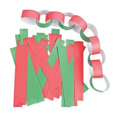 These Candy-Striped Paper Chains are a good old-fashioned way to decorate your Christmas tree! Use these gummed candy-striped chain pieces to make a garland. Days To Christmas, Christmas Gifts For Kids, Diy Christmas Ornaments, Christmas Tree, Christmas Countdown, Homemade Christmas, Christmas Decorations, Sunday School Crafts For Kids, Bible Crafts For Kids