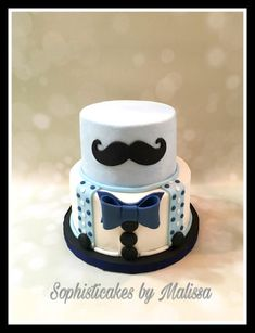 Mustache themed Baby Shower  - Cake by Sophisticakes by Malissa