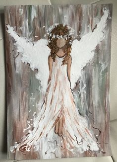 Pin by on Malen in 2020 Angel Wings Painting, Angel Artwork, Angel Drawing, Christmas Canvas, Christmas Paintings, Angel Pictures, Religious Art, Painting & Drawing, Watercolor Art