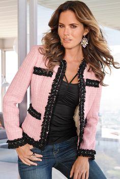 Boston Proper Pink Blazer Jacket NWT 12 on Mercari Chanel Fashion, Love Fashion, Spring Fashion, Winter Fashion, Womens Fashion, Classy Winter Outfits, Classy Work Outfits, Casual Outfits, Mode Outfits