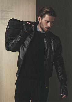 Simone Bredariol - Ferrari+FW13 Menswear. Black leather jacket