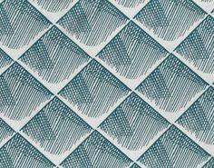 Quadratis bleu canard fond écru - Collection SS/PE 2017 - Thevenon - Design by InkFabrik