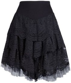 ShopStyle: Angel Iglesias tulle and lace skirt