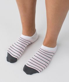 Lululemon Play All Day Sock - Silver Spoon / Bleached Coral / Deep Coal