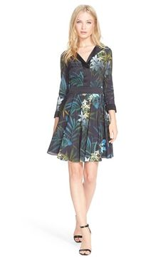 Ted Baker London Twilight Floral Fit & Flare Dress available at #Nordstrom