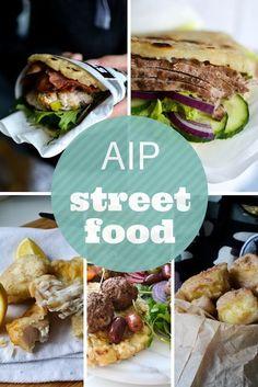 AIP Street Food Round Up: 20 Truck Food Recipes for the Autoimmune Protocol - Paleo Recipes Best Paleo Recipes, Diet Recipes, Primal Recipes, Vegetarian Recipes, Dieta Aip, Doner Kebabs, Mezze, Paleo Menu, Paleo Diet
