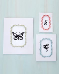 """See the """"Embroidered Gallery Wall Frame"""" in our Frame Border Craft Punch Projects gallery Gallery Wall Frames, Frames On Wall, Art From Recycled Materials, Daisy Petals, Arts And Crafts, Paper Crafts, Cardboard Crafts, Diy Crafts, Local Craft Fairs"""