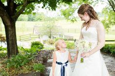 Country Wedding Bride + Flower Girl