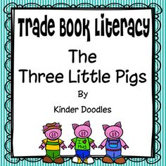 "Everyone loves the Three Little Pigs! Use the materials in this set to compare versions of ""Three Little..."" ~ included are headers for book study & close reading. Also included are retell cards for the traditional version of the story, four three little pig themed literacy center activities, and six response & activity pages.Please check out my other products & blog.Kinder DoodlesYou may also like:A Home for Hermit CrabClose Reading of The Sky is Falling"