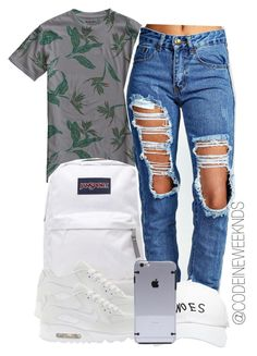 """""""7:13:15"""" by codeineweeknds ❤ liked on Polyvore featuring Burton, JanSport, Boohoo, October's Very Own and NIKE"""