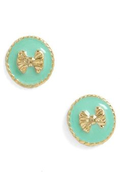 turqoise bow earrings