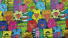 Veja nosso novo produto Tecido nacional - digital - Cat's -Ateliê Balaio de Gatos. ! Se gostar, pode nos ajudar pinando-o em algum de seus painéis :)