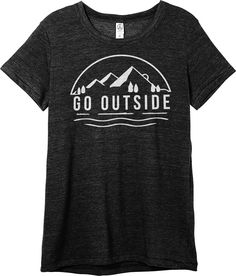 Go Outside t shirt to make on my silhouette machine for the den!