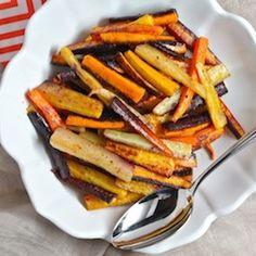 Coriander Roasted Rainbow Carrots HealthyAperture.com