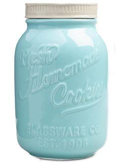 1. Mason Jar Ceramic Cookie Jar