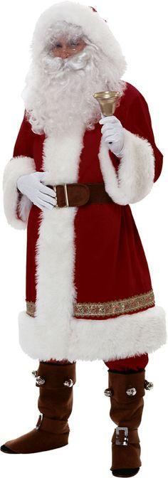Super Deluxe Old Time Santa Suit Costume Men's Large 2356