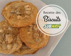 Je dois vous avouer que j'ai un énorme penchant pour les biscuits de chez Subway. Il m'arrive même de faire un détour à ce restaurant juste pour en acheter! Pas de sous-marin là, juste des biscuits! Hihi! Et quelle joie d'avoir fait la belle découverte d'une recette qui ressemble assez à ces fameux biscuits moelleux. Cookie Recipes, Dessert Recipes, Desserts With Biscuits, Cooking Cookies, Cookies Et Biscuits, Different Recipes, Cooking Time, Delicious Desserts, Sweet Tooth