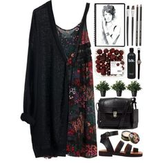A floral slip dress is a must for your outings sweet and warm evenings of spring