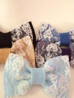 Lace Hair Bows! (My Style)