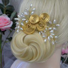 Hochzeit haarschmuck Antik von wandadesign auf DaWanda.com