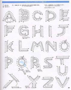 Alfabet szydełkowy