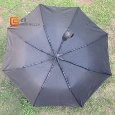 Auto open plain umbrella with buttom on handle