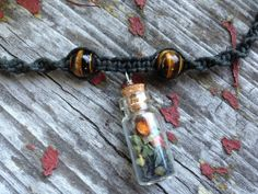 Tiger's Eye Crystal Beads Protection Bottle Organic by TheSunLab, $20.00
