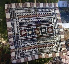 Vintage Handcrafted SQUARE Tapa Bark Cloth Paper by RusticSpoonful
