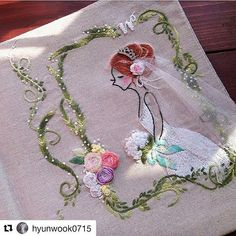 """Mi piace"": 22, commenti: 2 - embroidery (@__needlework__) su Instagram: ""❤️#Repost @hyunwook0715 with @repostapp ・・・ #❤️ایده_گلدوزی"""