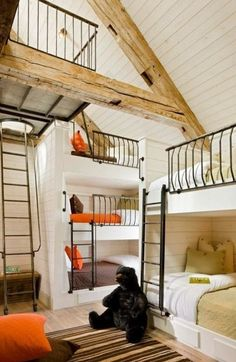 This is like a maze of bunk beds