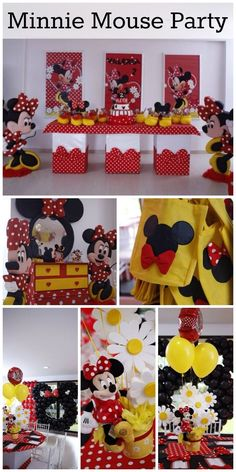 So many fun Minnie Mouse party ideas at this girl birthday party! See more party ideas at CatchMyParty.com.
