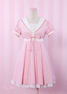Kawaii pink sailor dress