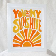 11x14 You Are My Sunshine Posters and Prints, Typography, Nursery Art Print, Wall Art, Kids room decor