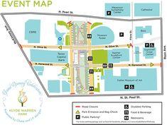 Klyde Warren Park -- Dallas -- Grand Opening Map
