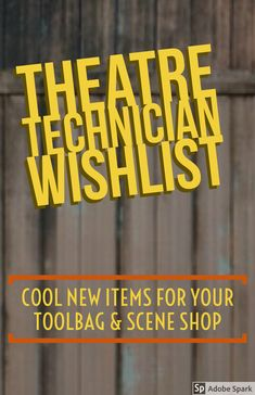 """THEATRE TECH WISHLIST: Cool Gear for Backstage, Your Toolbag, & Scene Shop I've got some new theatre tech items on my radar, and I definitely wanted to share them with … Read More """"Theatre Technician Wishlist"""" Drama Teacher, Drama Class, Set Design Theatre, Theatre Nerds, Teaching Theatre, Scenic Design, Stage Lighting, Lesson Plans, How To Plan"""