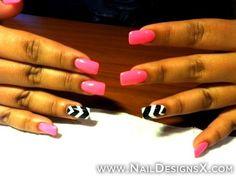 mix pink zebra nnail art » Nail Designs & Nail Art