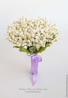 Купить Букет невесты с ландышами из полимерной глины - букет невесты, букет из глины