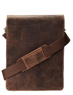 Visconti 18563 Distressed Leather Messenger Bag with Detachable Strap *** Click on the image for additional details.