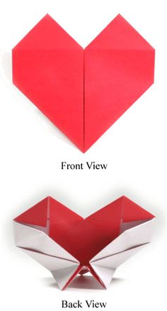 Creative Origami, Heart, Stand, II, and Http image ideas & inspiration on Designspiration How To Make Origami, Useful Origami, 3d Origami Heart, Heart Place, Origami Models, Origami Instructions, Origami Paper, Paper Flowers, Valentines Day