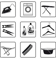 Laundry vector 258845 - by mannaggia on VectorStock®
