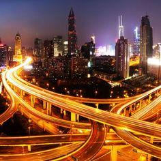 The nine dragon pillar, Shanghai, China Shanghai, X Project, Work Site, City Lights, Night Lights, Dragon, City Life, Restoration, Urban