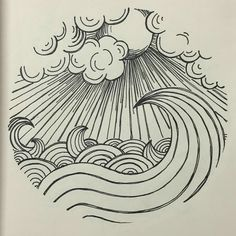 Amazing Pen and Ink Cross Hatching Masters Edition Ideas. Incredible Pen and Ink Cross Hatching Masters Edition Ideas. Doodle Drawing, Doodle Art, Painting & Drawing, Ocean Drawing, Beach Drawing, Cloud Drawing, Circle Drawing, Cloud Art, Wave Drawing